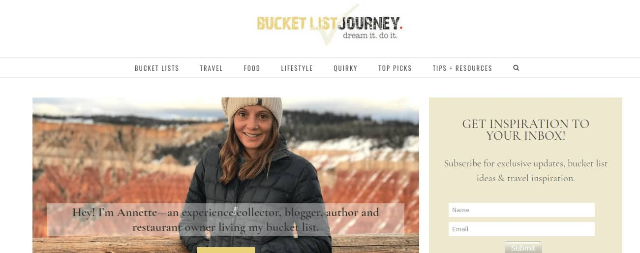 There is no doubt Bucket List Journey make the Top 50 Travel Blogs