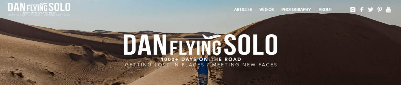 Dan Flying solo makes our top 50 travel blogs list