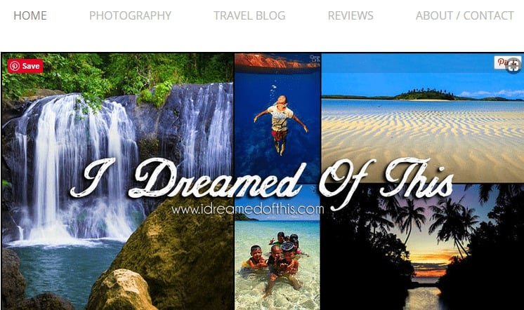 I dreamed of this makes our top 50 travel blogs list