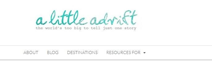 A little adrift makes our top 50 travel blogs list