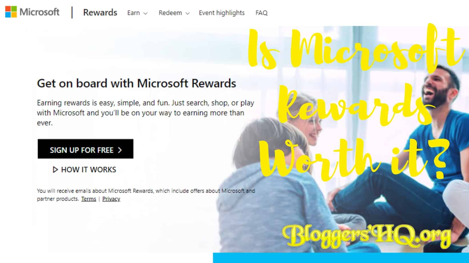 Is Microsoft (Bing) Rewards Worth it? [REVIEW] | BloggersHQ Org