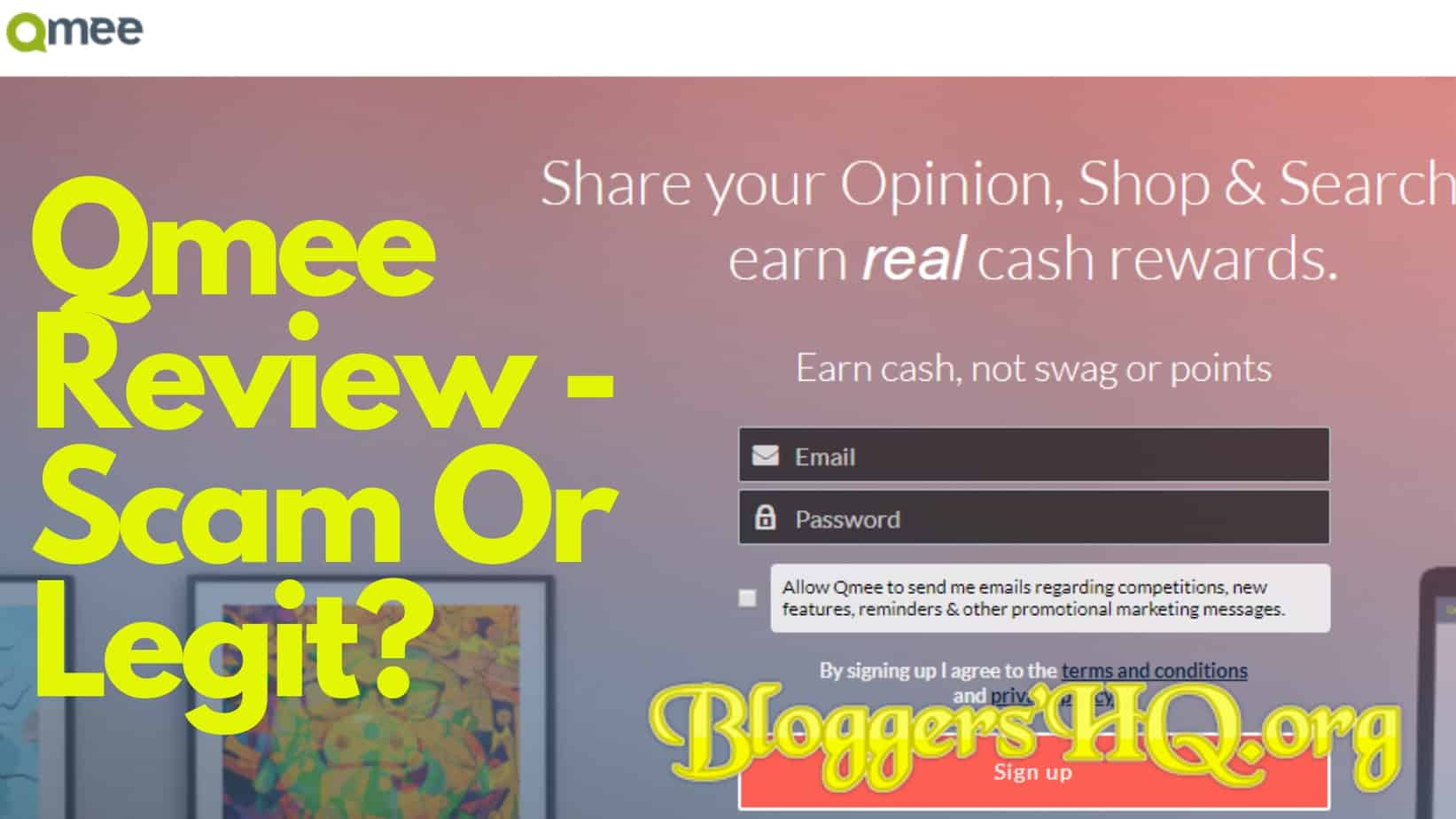 QMee Review – Scam Or Legit? [REVEALED] | BloggersHQ Org