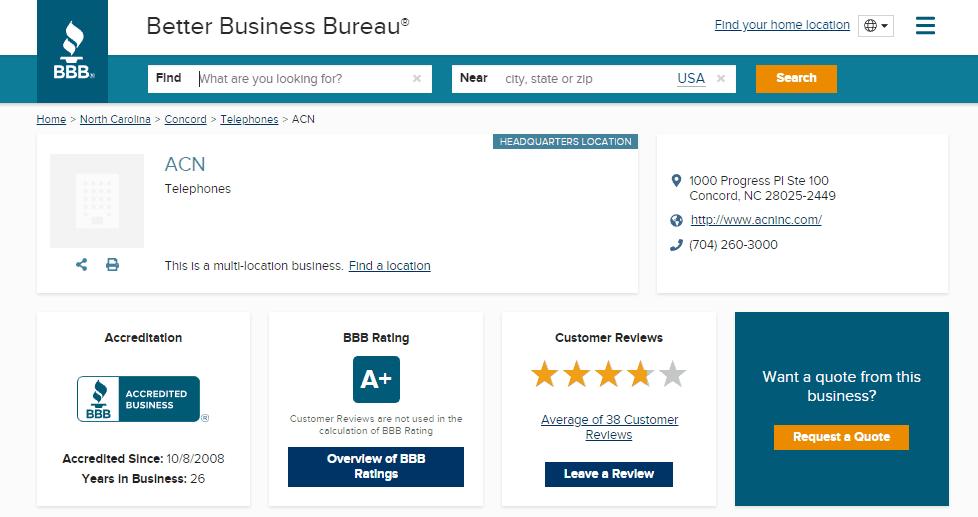 ACN Better Business Bureau
