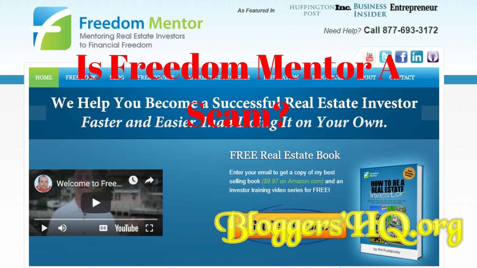 Is Freedom Mentor A Scam? Another BS Mentoring Program? [Review