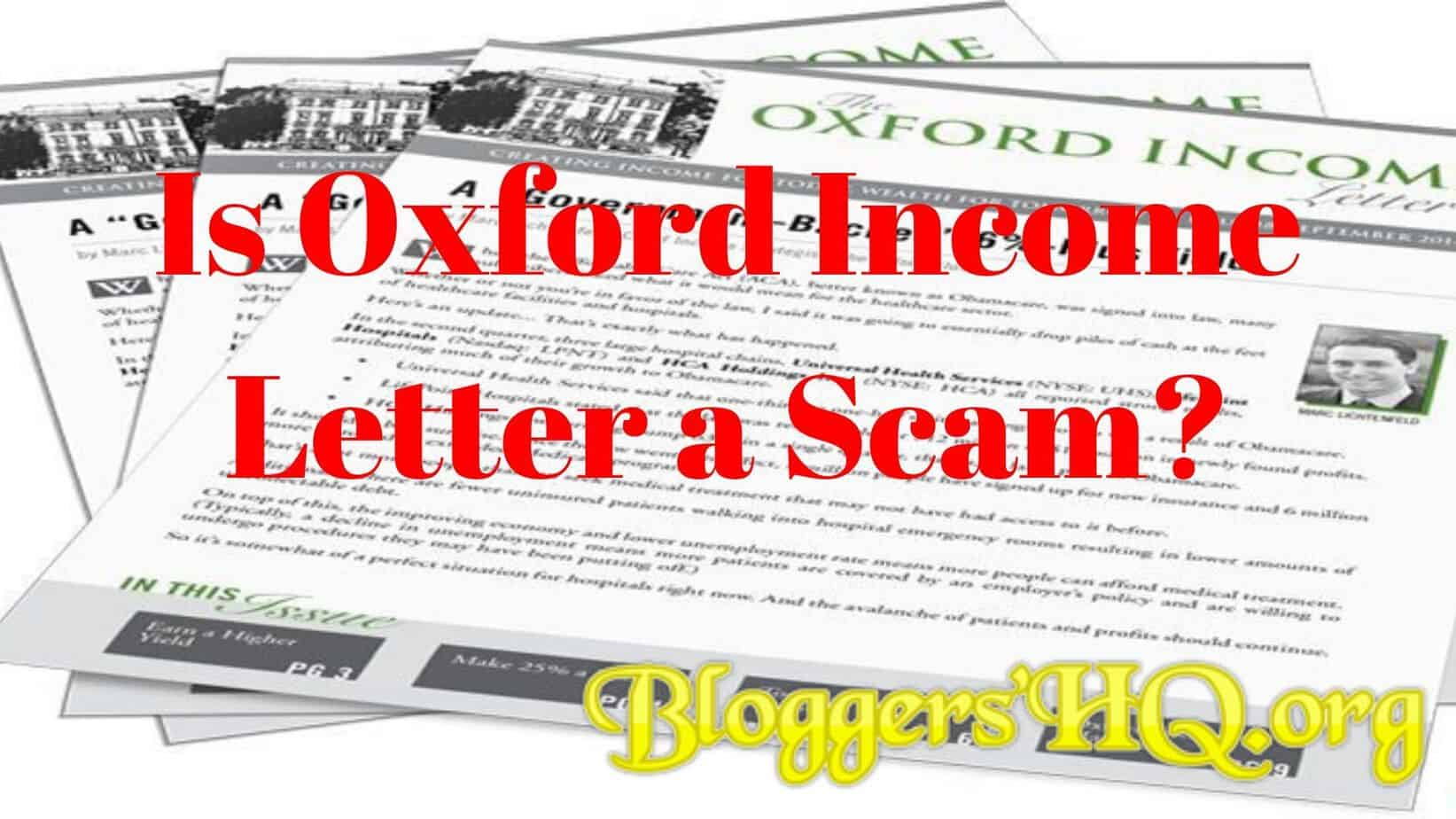 Is Oxford Income Letter a Scam? The Truth Uncovered [Review