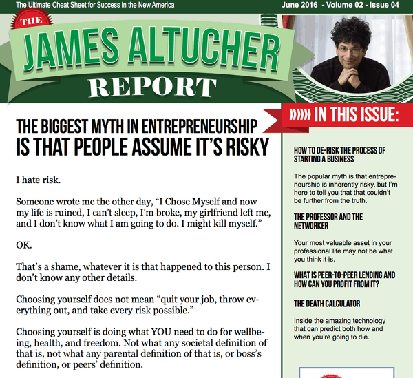 The Altucher Report Review