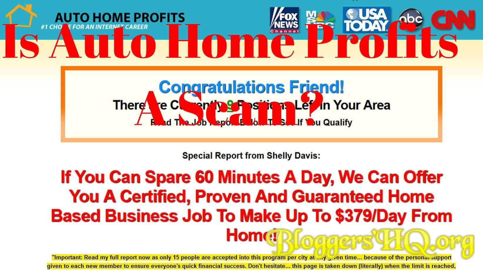 Is Auto Home Profits A Scam 379 Per Day Real Review