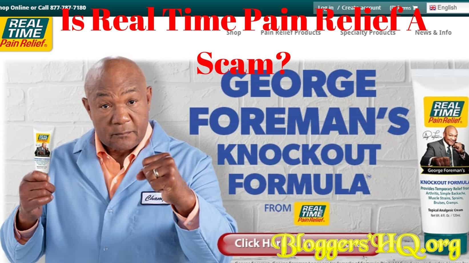 Is Real Time Pain Relief A Scam