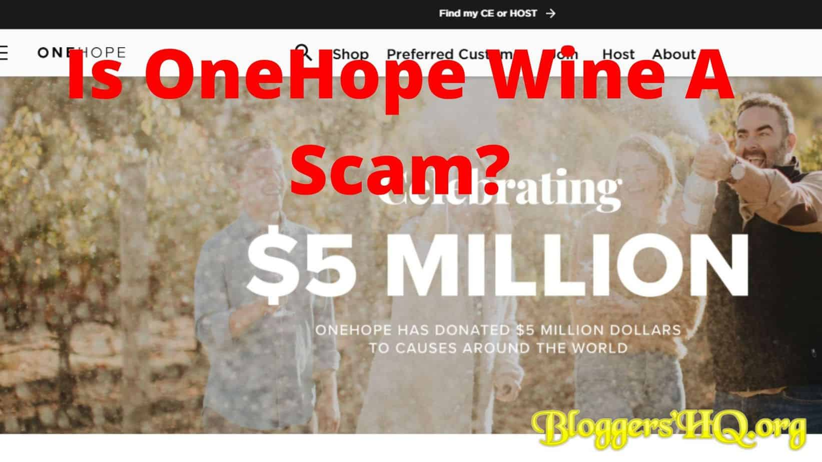 Is OneHope Wine A Scam