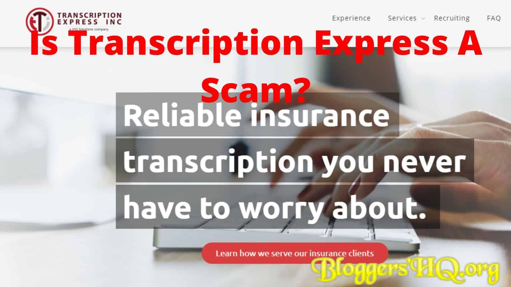 Is Transcription Express A Scam