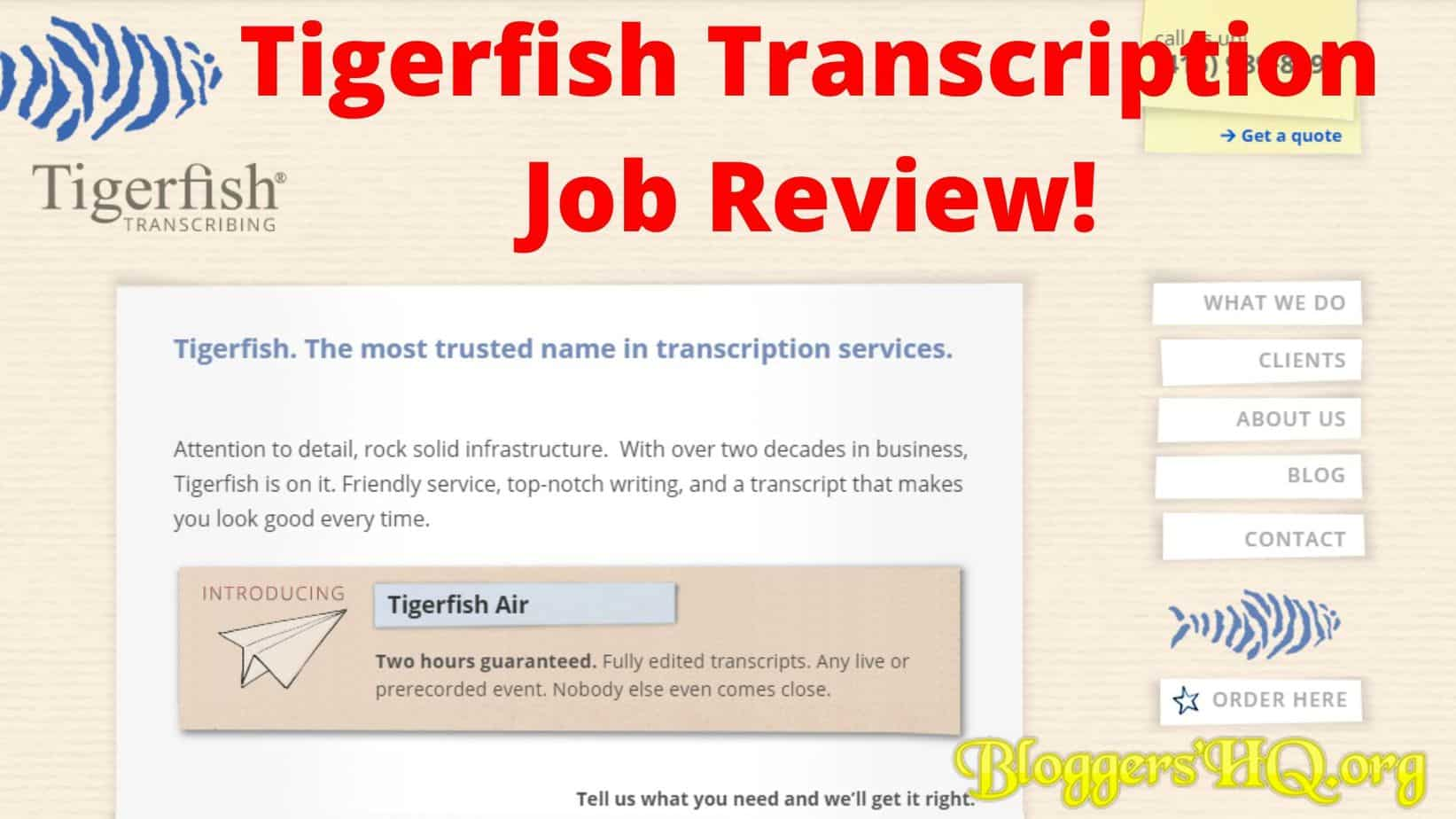 igerfish Transcription Job Review