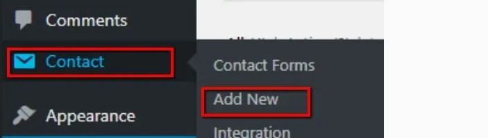Contact Form Add New