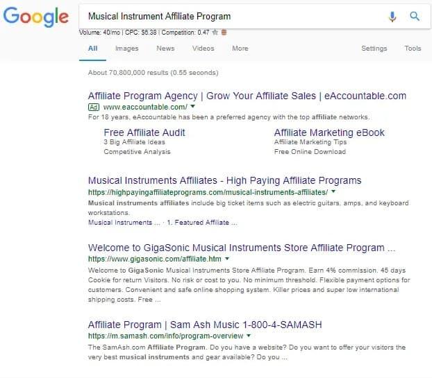 Musical Instrument Affiliate Program
