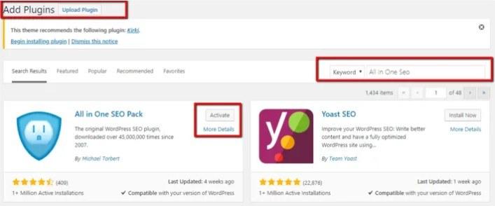 WordPress Plugins Area