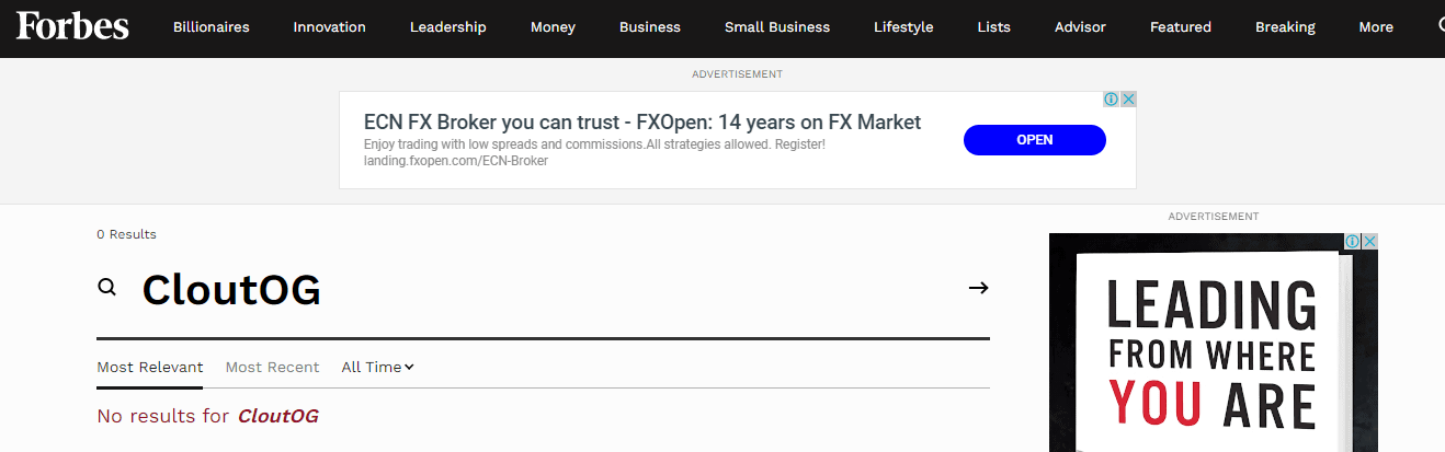 Forbes Fake Claim Proof